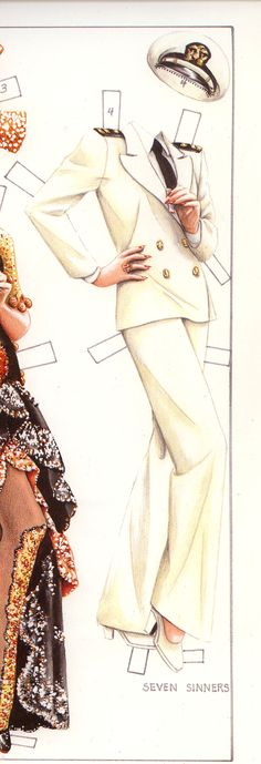 Marlene Dietrich paper doll | MARLENE DIETRICH – A PAPER DOLL | Marges8's Blog