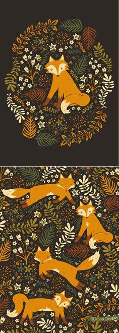Fox Tales   By Anna Deegan    https://www.behance.net/gallery/11726851/Fox-Tales