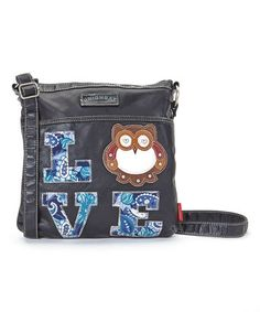 Another great find on #zulily! Black Owl 'Love' Crossbody Bag #zulilyfinds   <3