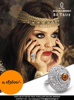 A #glamourous look wouldn't be complete without a #breathtaking ring. Slide it on and feel like a #$Million #Superstar! #Fashion #Jewellery