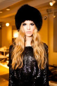 Fur Hat Glamour Rachel Zoe