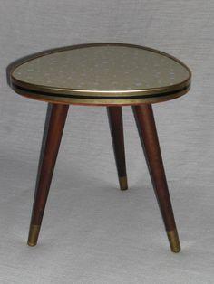 Dreibeinhocker Schemel Kult Stuhl Retro Design 50er