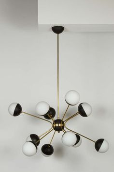 Custom Rewire Orb Chandelier in the Style of Stilnovo #artdeco