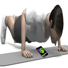 This application counts push-ups. It uses proximity sensor to count the push-ups, you just have to press the GO button, place the mobile phone under your chest and start doing push ups.