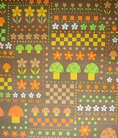 Vintage wallpaper. kr60.00, via Etsy.