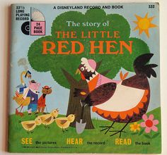 Retro The Little Red Hen storybook and album- the kind you would play on your Fisher Price record player!Published in 1968 and in great shape. #vintage #books #childrens #storybook #kids #nostalgia
