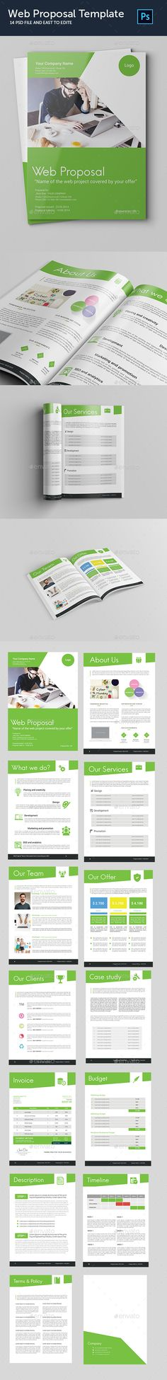 Clean Digital Marketing Proposal Digital marketing, Stationery - proposal template in word