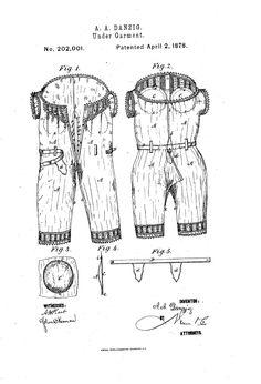 1878 Patent US202001 - IMPROVEMENT IN UNDER-GARMENTS - Google Patents  (falsies and hygene belt!)