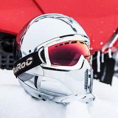 Ruroc RG1-X Chrome - Limited Edition Snowboarding, Skiing, Cool Bike Helmets, Snow Board, Ski Gear, Bike Ideas, Cool Bikes, Winter Wonderland, Honda
