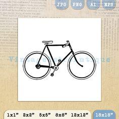 Digital Printable Bicycle Image Bike by VintageRetroAntique