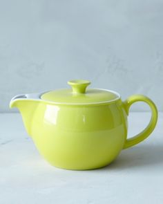 Guaranteed to match the color of your kitchen -- whatever it may be -- this Dibbern teapot is available in more than 24 colors