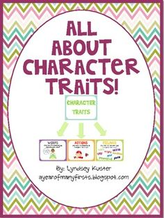 Character Traits (free posters and graphic organizers for Chrysanthemum and Wembly Worries !)