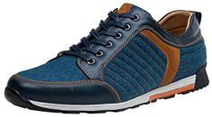 ✪Blue trend denim model vamp.✪Waxing shoelaces,Wear-resistant rubber sole.✪Breathable relaxed...