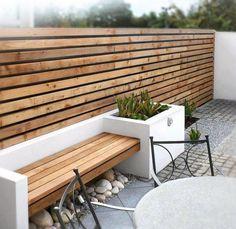 Ideas for contemporary garden seating patio design Small Patio Design, Modern Garden Design, Contemporary Garden, Fence Design, Balcony Design, Patio Pergola, Patio Seating, Pergola Kits, Backyard Patio