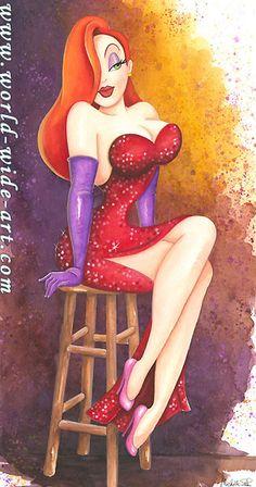 Who Framed Roger Rabbit - Roger's Girl - Jessica Rabbit - Original - Michelle St. Laurent - World-Wide-Art.com