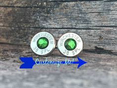 personalized - winchester stud earrings - 38 special - bullet jewelry - ammunition jewelry #whiskeydeltaco