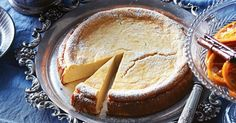 The hallmark of a German cheesecake is its light texture - you'll be tempted to go back for another slice!