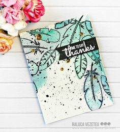 """Hi crafty friends and welcome back to our crafty space.Ralucahere with a new card showcasing the """"Funky Feathers"""" stamp set.    I always loved to see artsy cards. You know. the watercolor ones that"""