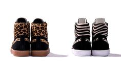 """The PUMA Suede Made in Japan Mid """"Osaka Zoo"""" Pack Is Wild #puma trendhunter.com"""