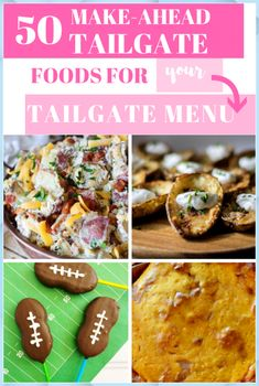 News 50 Make-Ahead Tailgate Recipes Tailgate Desserts #News #Make-Ahead #Tailgate #Recipes #Tailgate #Desserts Make Ahead Appetizers, Appetizer Recipes, Planning Budget, Meal Planning, Party Planning, Football Food, Football Tailgate, Football Season, Football Parties