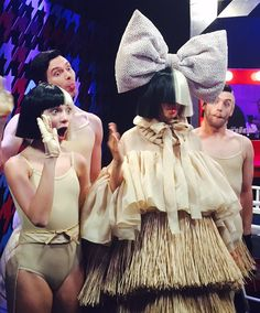 """siafurlersource: """" """"Sia and Maddie Ziegler on The Voice (backstage). """" """""""