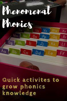 Phenomenal ways to incorporate Phonics!