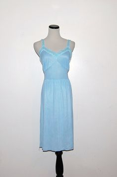 Vintage Blue Nightgown by CheekyVintageCloset on Etsy, $14.00