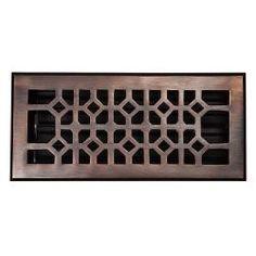 @Overstock - Solid copper, handcrafted floor register with powder coated, screwed on adjustable damper.http://www.overstock.com/Home-Garden/Copper-Factory-Solid-Copper-4-inch-x-10-inch-Floor-Register/6405340/product.html?CID=214117 $54.99