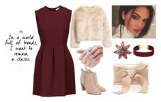 """Chrishmast Inspiration"" by yourism on Polyvore featuring Sandro, Michael Kors and Oscar de la Renta"