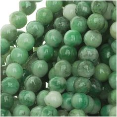 CHINA JADE 4MM ROUND BEADS GREEN 155 INCH STRAND from beadaholique.com