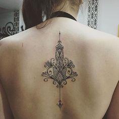 Bildergebnis für mandala tattoo back Key Tattoos, Spine Tattoos, Cover Up Tattoos, Word Tattoos, Tribal Tattoos, Tattos, Saved Tattoo, Tattoo Son, Lower Back Tattoo Designs