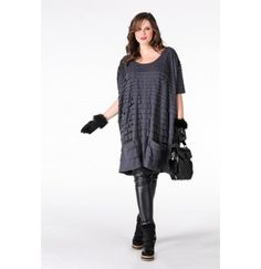 Shirt extra wide pocket LULU - Yoek Plus size fashion Grote maten mode winter 2013/2014