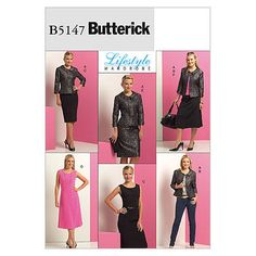 Misses'/Misses' Petite Jacket, Top, Dress and Skirt-F5 (16-18-20-22-24) Pattern