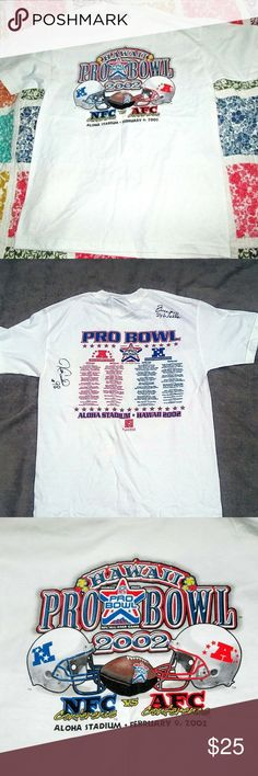 89fcb473 2002 Pro Bowl Shirt AUTOGRAPHED Medium 2002 NFL Pro Football Pro Bowl shirt.  This shirt