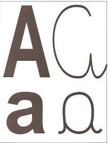Resultado de imagem para cartaz do alfabeto com os quatro tipos de letras maiuscula