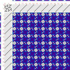 draft image: Figurierte Muster Pl. XXII Nr. 13 (c), Die färbige Gewebemusterung, Franz Donat, 8S, 8T