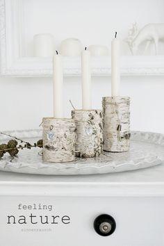 Birken-Kerzen
