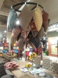 Fun pillow display at Classic Home-showroom C309