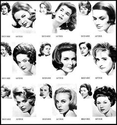 hairstyle makovers probably late early - short hair for girls season look first row second one in Grease Hairstyles, Retro Hairstyles, Glamorous Hairstyles, Hello Hair, Bombshell Hair, Vintage Hairstyles Tutorial, 1960s Hair, Rockabilly Hair, 1960s Style