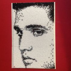 Elvis Presley portrait hama mini beads by leelth