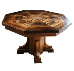 Country Roads Barnwood Octagonal Dining U0026 Game Table