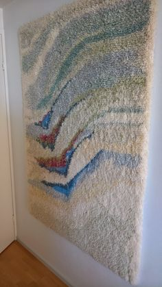 Rya Rug, Diy And Crafts, Weaving, Carpet, Textiles, Blanket, Rugs, Wall, Modern