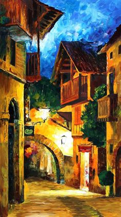GERMAN VILLAGE - LEONID AFREMOV by Leonidafremov.deviantart.com on @deviantART