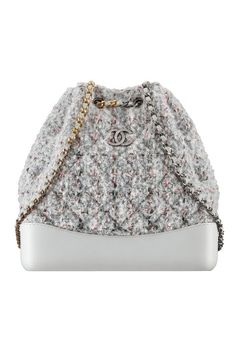 This textured grey backpack from Chanel is totally worth the splurge.