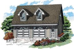 Traditional Style House Plan - 1 Beds 1 Baths 588 Sq/Ft Plan Eplans Garage Plan - Guest Suite - 1260 Square Feet and 1 Bedroom from Eplans - House Plan Code Plan Garage, Garage Plans With Loft, Garage Floor Plans, Garage Loft, Garage House, Garage Ideas, Loft Plan, Carport Ideas, Garage Studio