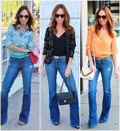 Sydne Style - Celebrity Trend Flare Jeans How To Wear @expresslife #expressjeans