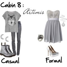 Cabin Artemis - Fandom Shirts - Ideas of Fandom Shirts - just spectacular. I love wolves so this is awesome! Percy Jackson Outfits, Percy Jackson Fandom, Fandom Fashion, Nerd Fashion, Disney Fashion, Punk Fashion, Lolita Fashion, Fashion Boots, Hunter Of Artemis