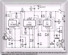 The Free Information Society - Laser Listening Electronic Circuit Schematic