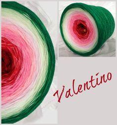 Valentino: Hochbausch 8 Farben: weinrot karminrot blüte  lachs rosa natur lindgrün grün