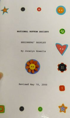 National Button Society Beginners' Booklet By Jocelyn Howells